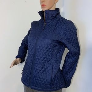 Land's End XS Navy Blue Quilted Zip up Jacket